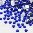 Jewel Embellishments, Resin, Dark blue, Faceted Discs, 4mm x 4mm x 1.2mm, 300  pieces, (ZSS067)